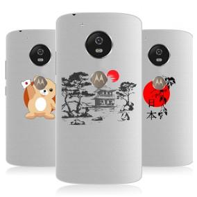 Дизайнерский силиконовый чехол для Motorola Moto G5s Прозрачная япония