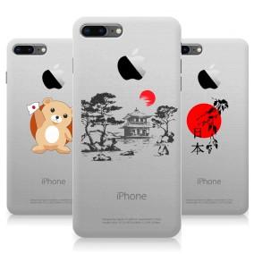 Дизайнерский силиконовый чехол для Iphone 8 Plus Прозрачная япония
