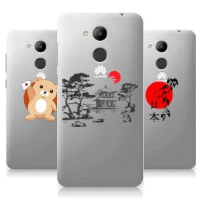 Дизайнерский силиконовый чехол для Huawei Honor 6C Pro Прозрачная япония