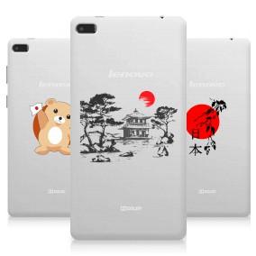 Дизайнерский силиконовый чехол для Lenovo Tab 4 7 Essential Прозрачная япония