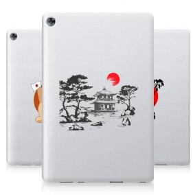 Дизайнерский силиконовый чехол для Huawei MediaPad M5 10.8 Прозрачная япония