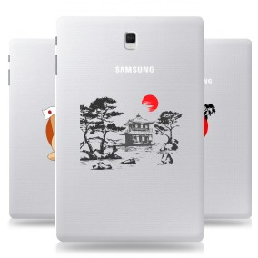 Дизайнерский силиконовый чехол для Samsung Galaxy Tab S4 Прозрачная япония