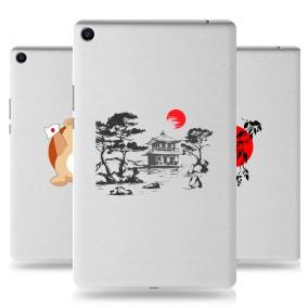Дизайнерский силиконовый чехол для Xiaomi Mi Pad 4 Plus Прозрачная япония
