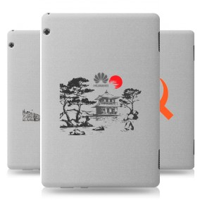 Дизайнерский силиконовый чехол для Huawei MediaPad T5 Города