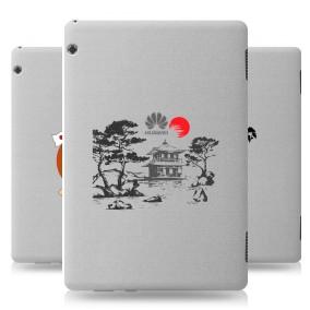 Дизайнерский силиконовый чехол для Huawei MediaPad T5 Прозрачная япония