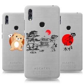 Дизайнерский силиконовый чехол для Alcatel 5V Прозрачная япония