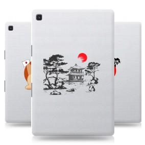 Дизайнерский силиконовый с усиленными углами чехол для Samsung Galaxy Tab S5e Прозрачная япония