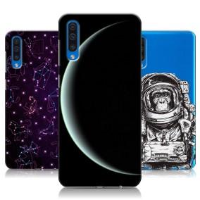 Дизайнерский пластиковый чехол для Samsung Galaxy A50 Космос