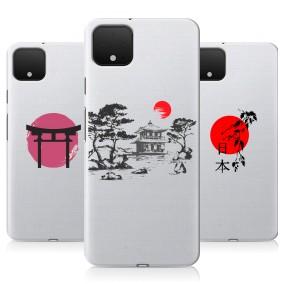 Дизайнерский силиконовый чехол для Google Pixel 4 Прозрачная япония