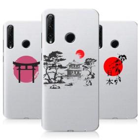 Дизайнерский силиконовый чехол для Huawei Honor 20 Lite Прозрачная япония