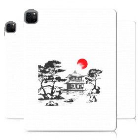 Дизайнерский силиконовый чехол для Ipad Pro 12.9 (2020) Прозрачная япония