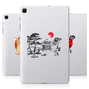Дизайнерский силиконовый с усиленными углами чехол для Samsung Galaxy Tab S6 Lite Прозрачная япония