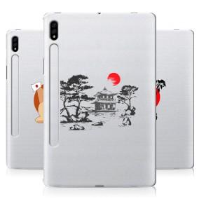 Дизайнерский силиконовый чехол для Samsung Galaxy Tab S7 Прозрачная япония
