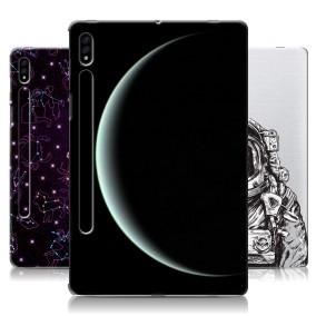 Дизайнерский силиконовый чехол для Samsung Galaxy Tab S7 Космос