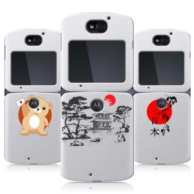 Дизайнерский пластиковый чехол для Motorola Razr 5G Прозрачная япония