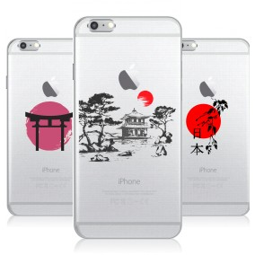 Дизайнерский силиконовый чехол для Iphone 6/6s Прозрачная япония