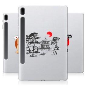 Дизайнерский силиконовый чехол для Samsung Galaxy Tab S7 FE Прозрачная япония
