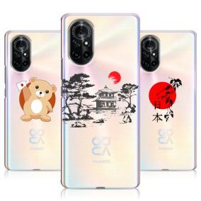 Дизайнерский силиконовый чехол для Huawei Nova 8 Прозрачная япония