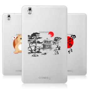 Дизайнерский силиконовый чехол для Samsung Galaxy Tab Pro 8.4 Прозрачная япония