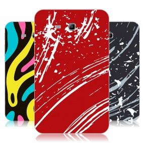 Дизайнерский силиконовый чехол для Samsung Galaxy Tab 3 Lite Абстракции