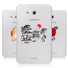 Дизайнерский силиконовый чехол для Samsung Galaxy Tab 3 Lite Прозрачная япония