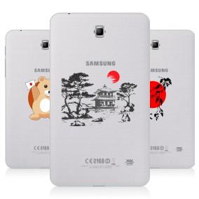 Дизайнерский силиконовый чехол для Samsung GALAXY Tab 4 7.0 Прозрачная япония