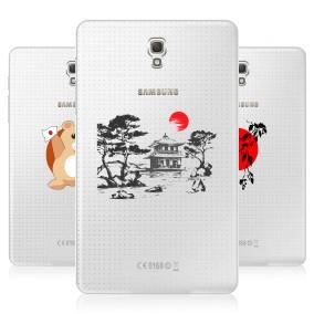 Дизайнерский силиконовый чехол для Samsung Galaxy Tab S 8.4 Прозрачная япония