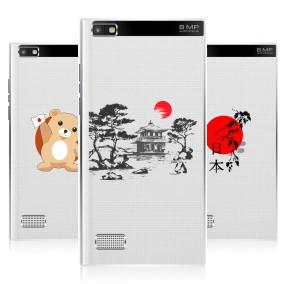 Дизайнерский пластиковый чехол для Blackberry Leap Прозрачная япония