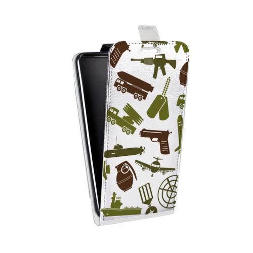 Дизайнерский вертикальный чехол-книжка для LG K7 Стикеры к Дню Победы