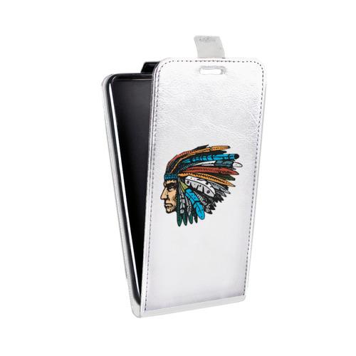Дизайнерский вертикальный чехол-книжка для Alcatel One Touch Pop C9 Прозрачные дикий запад