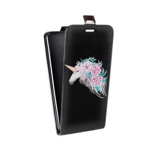 Дизайнерский вертикальный чехол-книжка для HTC One (M8) Цветы
