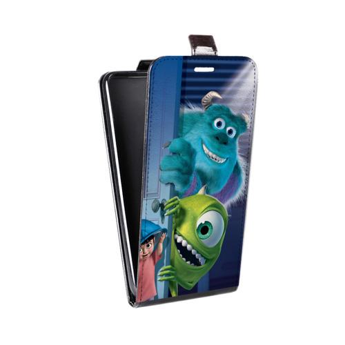 Дизайнерский вертикальный чехол-книжка для Sony Xperia Z3 Корпорация монстров (на заказ)