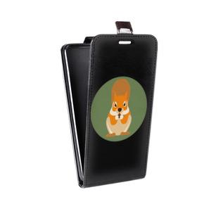 Дизайнерский вертикальный чехол-книжка для Samsung Galaxy Alpha Животные