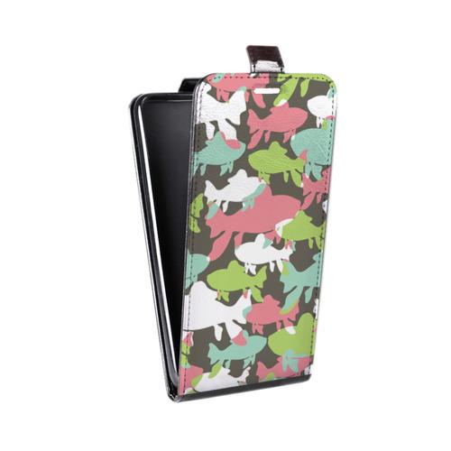 Дизайнерский вертикальный чехол-книжка для LG K7 Стая цветных животных