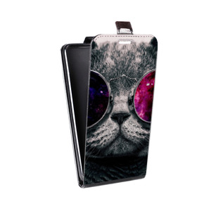 Дизайнерский вертикальный чехол-книжка для HTC One (M8) Животные