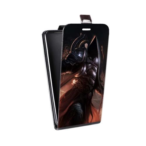 Дизайнерский вертикальный чехол-книжка для ASUS Zenfone 2 Laser 5 ZE500KL Diablo