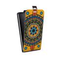 Дизайнерский вертикальный чехол-книжка для Alcatel One Touch Pop C9 Индийские Монограммы