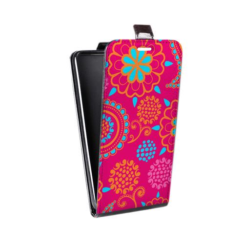 Дизайнерский вертикальный чехол-книжка для Alcatel One Touch Pop C9 Шаблоны пейсли
