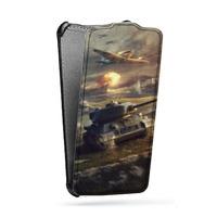 Дизайнерский вертикальный чехол-книжка для Huawei P8 Lite Игры