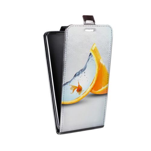 Дизайнерский вертикальный чехол-книжка для Samsung Galaxy S6 Edge Апельсины