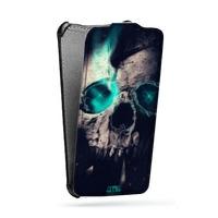 Дизайнерский вертикальный чехол-книжка для Samsung Galaxy Core Мистика